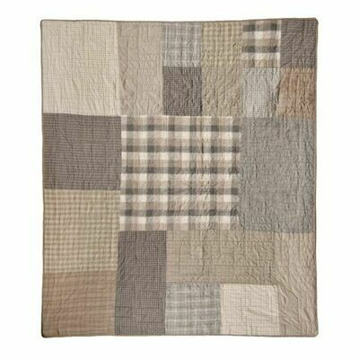 Smoky Square Throw