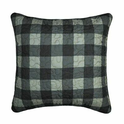 Bear Walk Check Pillow