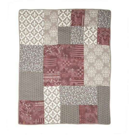 Fleur de Lis Square Throw