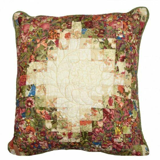 Watercolor Irish Chain Pillow