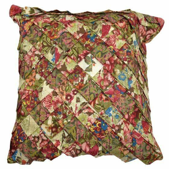 Watercolor Irish Chain Roof Tile Pillow