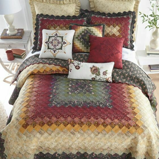 Spice Trip Around the World Twin Quilt