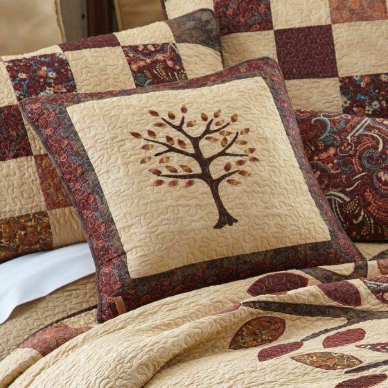 Autumn Tree of Life Tree Pillow