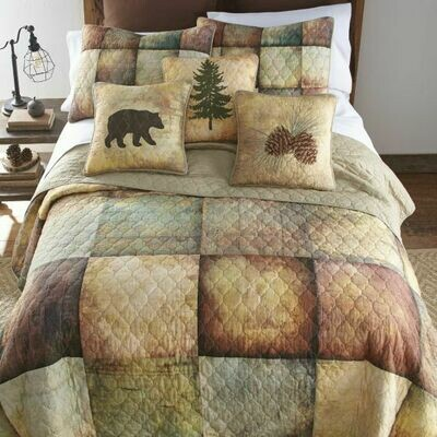 Wood Patch King Quilt
