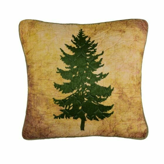 Wood Patch Tree Pillow