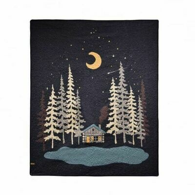 Moonlit Cabin Throw