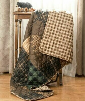 Brown Bear Cabin Throw