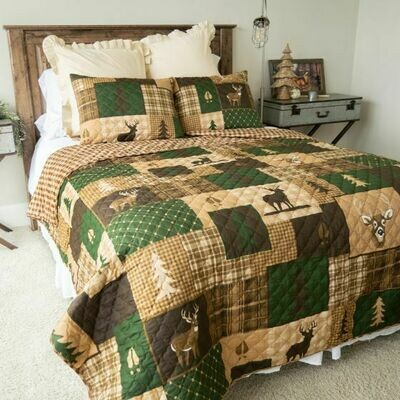 Green Forest King Bedding Set