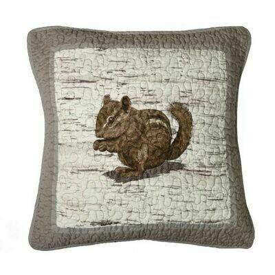 Birch Forest Chipmunk Pillow