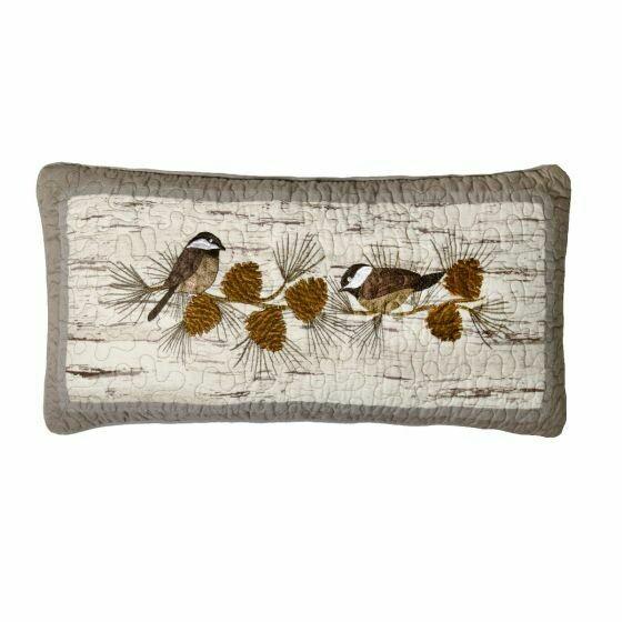 Birch Forest Chickadee Pillow