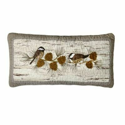Birch Forest Chickadee Pillow