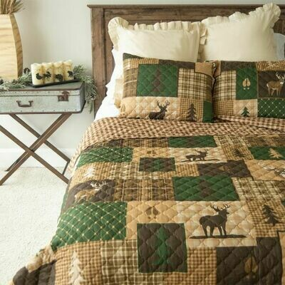 Green Forest Full/Queen Bedding Set