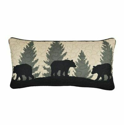 Bear Walk Bear Rectangle Pillow