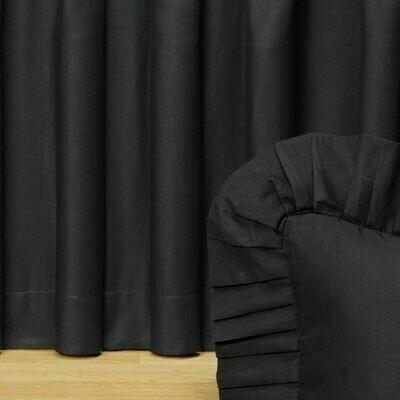 Black Night King Bedskirt