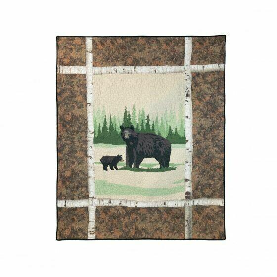 Birch Bear Throw