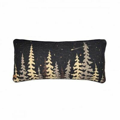 Moonlit Cabin Rectangle Pillow