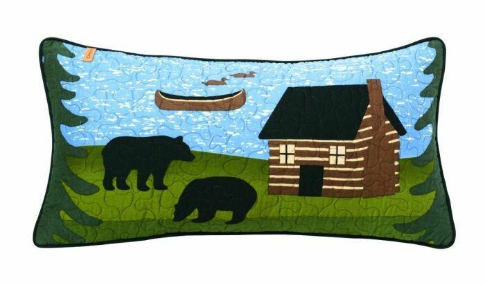 Bear Lake Rectangle Pillow