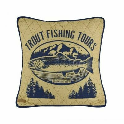 Lakehouse Trout Pillow
