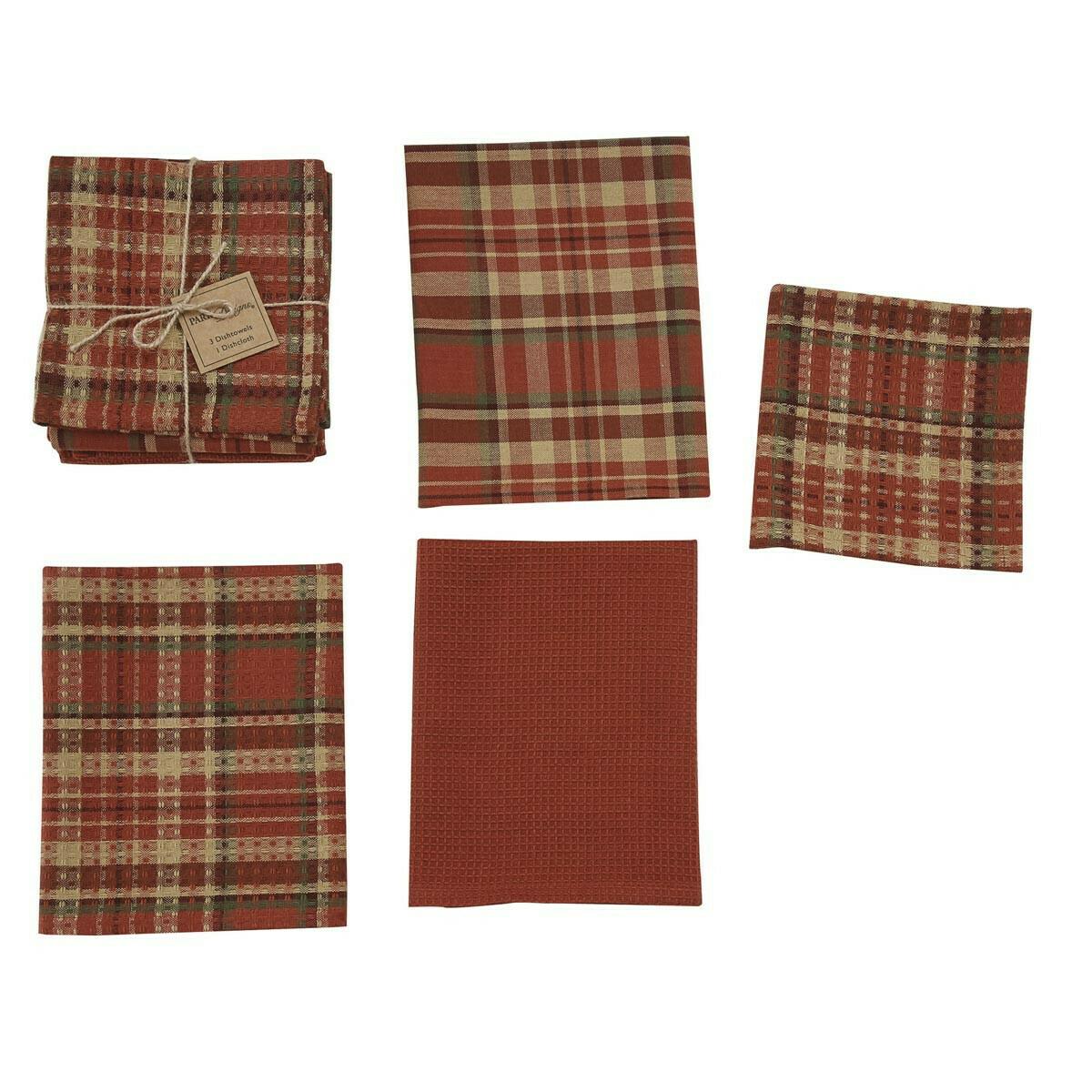 Abundant 3 Dishtowel & 1 Dishcloth Set