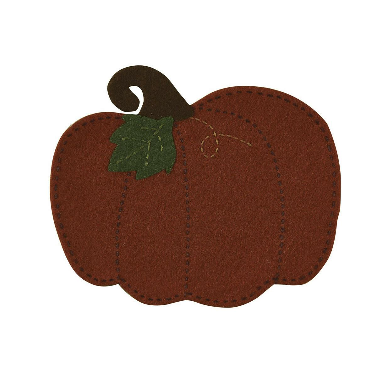 Pumpkin Patch Felt Accent Mat