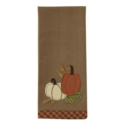 Pumpkin Patch Applique Dishtowel