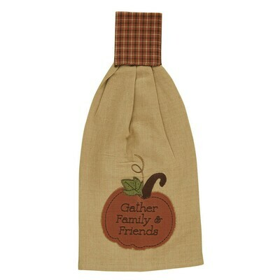 Pumpkin Patch Applique Hand Towel
