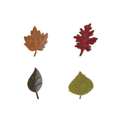 Set of 4 Leaf Napkin Rings