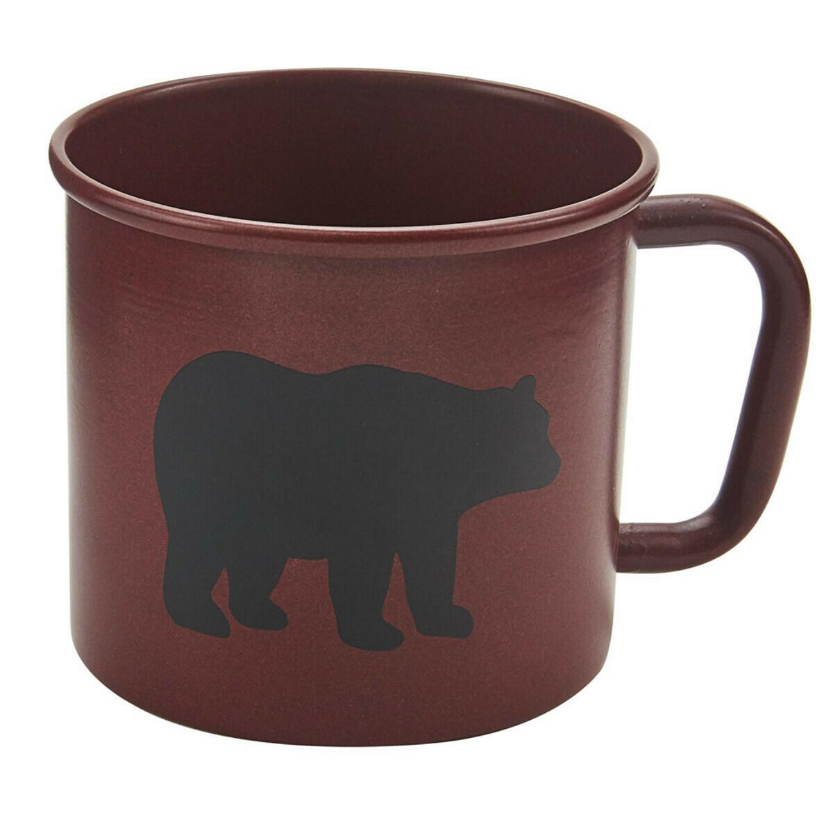 Linville Red Bear Enamel Mug