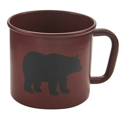 Linville Red Bear Enamel Mug