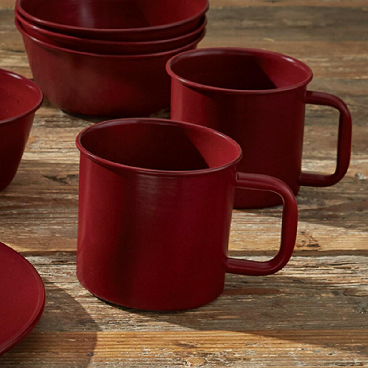Linville Red Enamel Mug