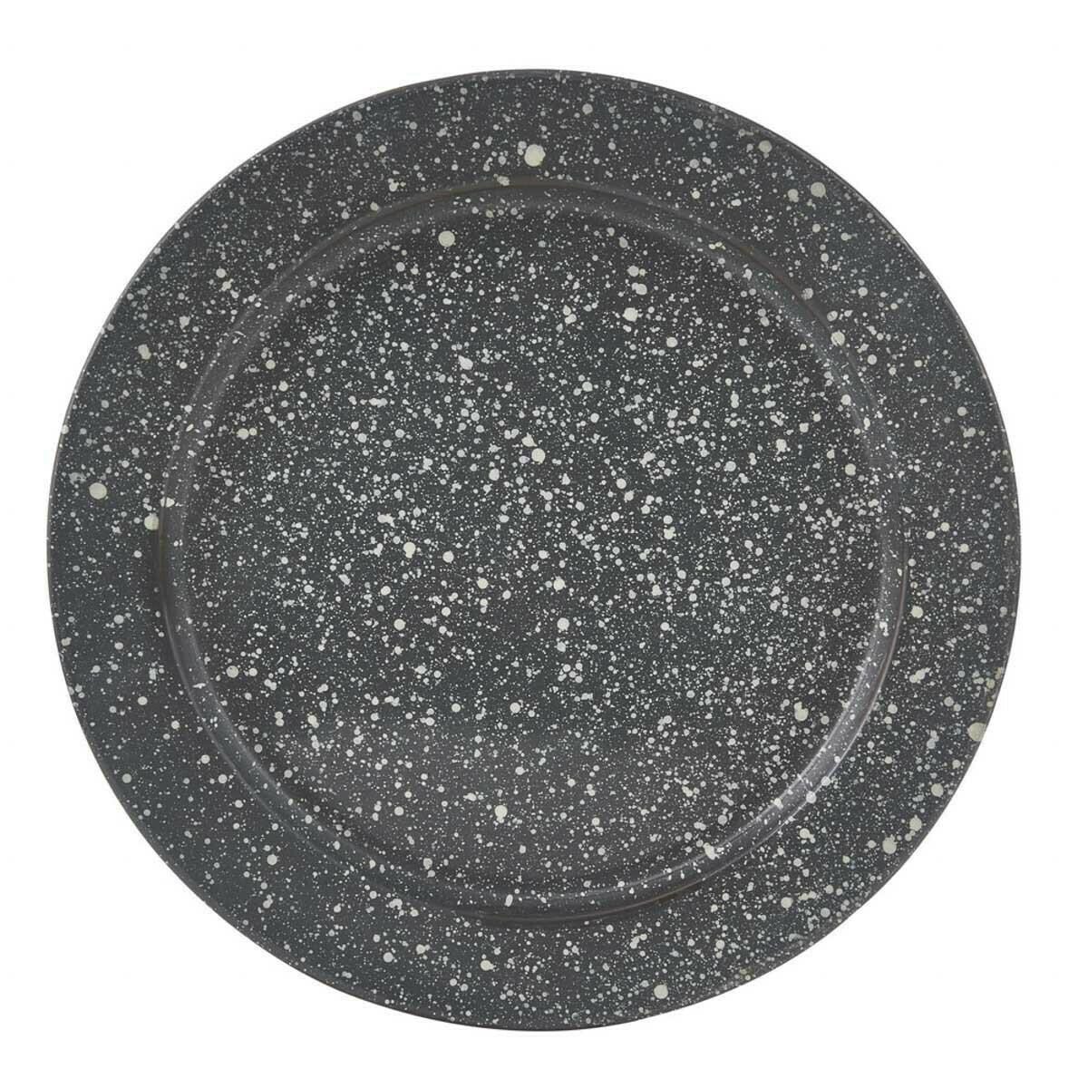 Granite Enamelware Gray Dinner Plate