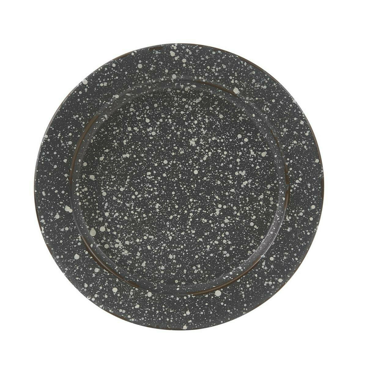 Granite Enamelware Gray Salad Plate