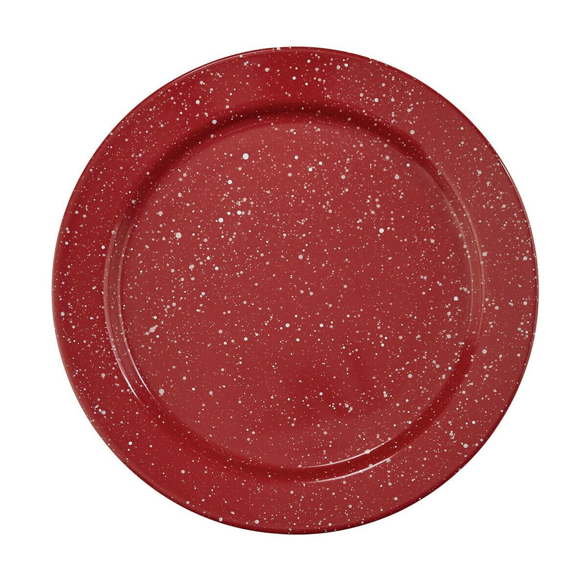 Granite Enamelware Red Dinner Plate