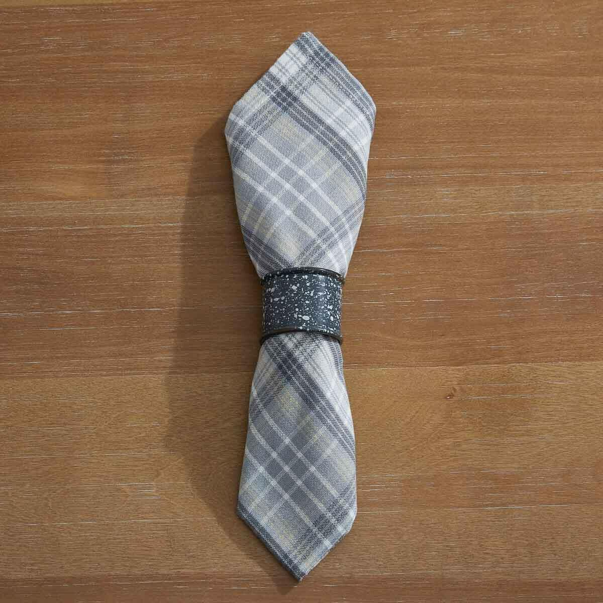 Granite Enamelware Gray Napkin Ring