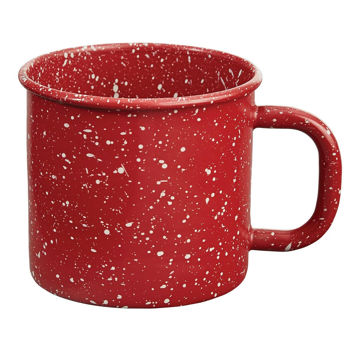 Granite Enamelware Red Mug