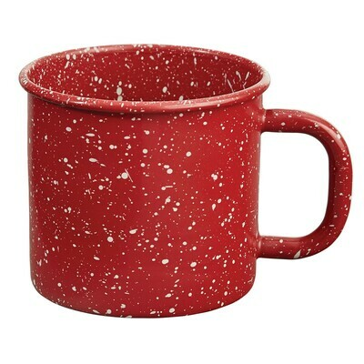 Granite Enamelware Red Mug