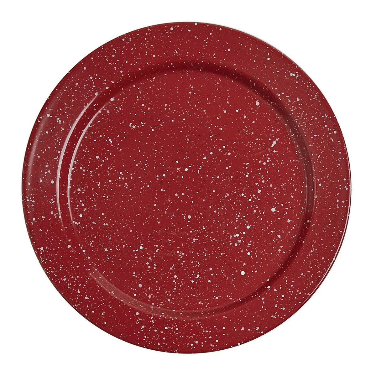 Granite Enamelware Red Salad Plate