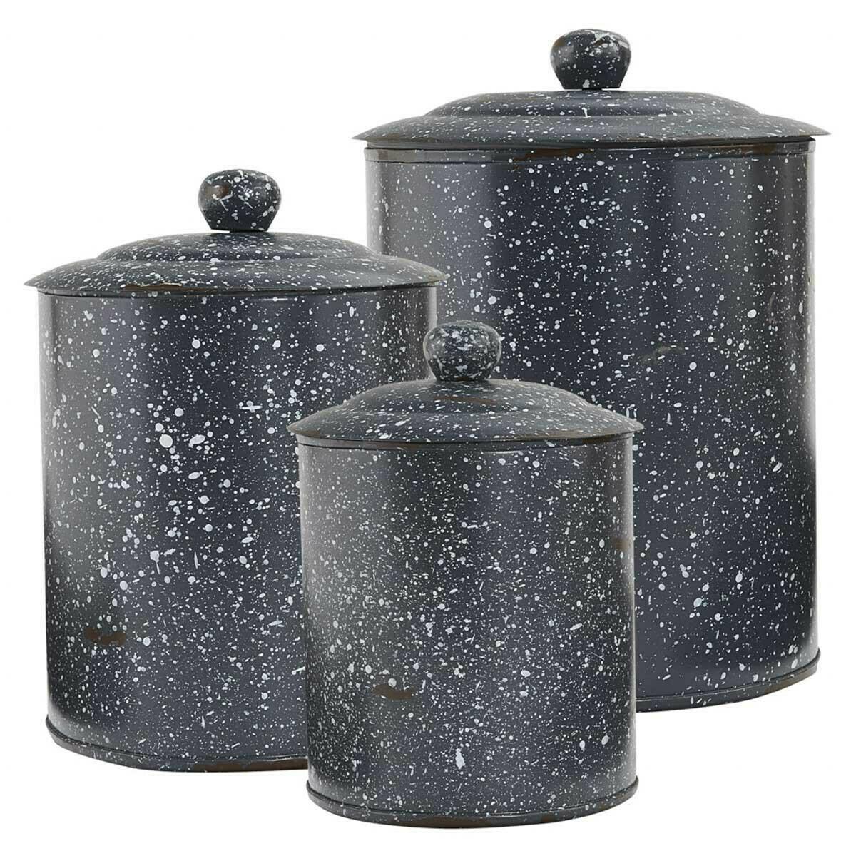 Granite Enamelware Gray Canister Set