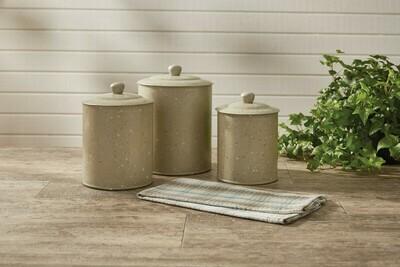 Granite Enamelware Sandstone Canister Set