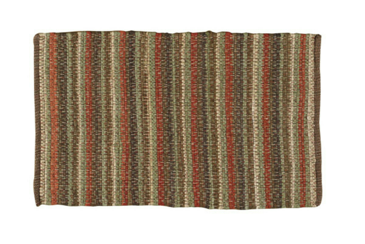 "Casual Classics Stripe Earth Rag Rug 24'x38"""
