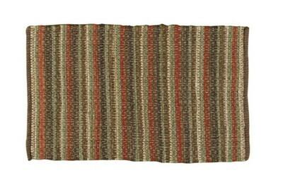 Casual Classics Stripe Earth Rag Rug 24'x38