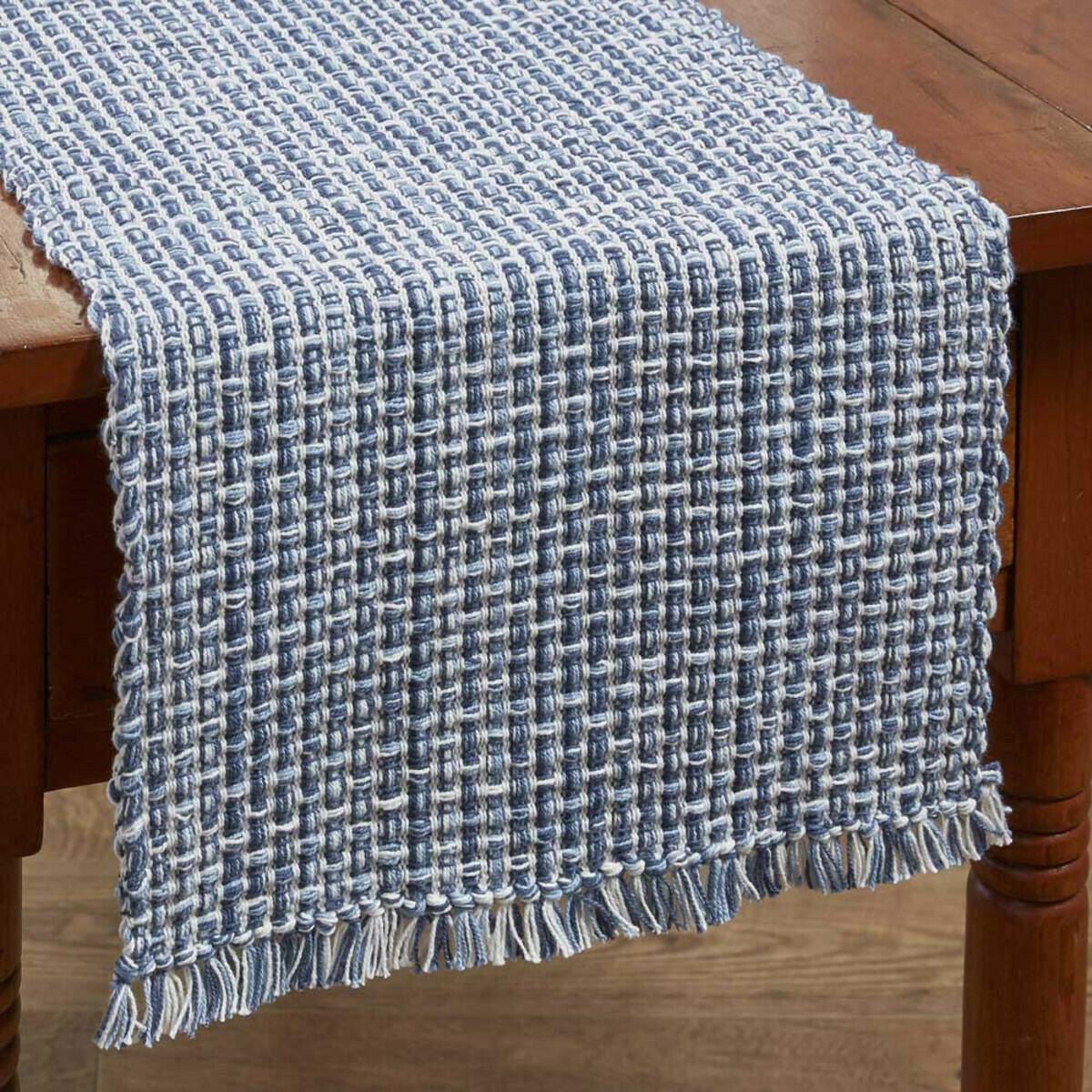 """Tweed Denim Table 36"""" Runner"""