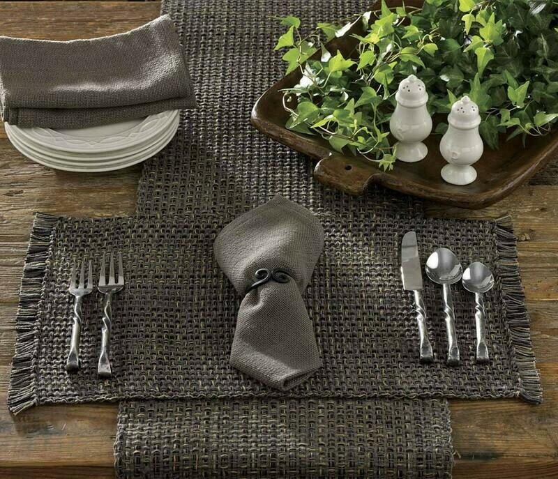 Tweed Charcoal Table 36