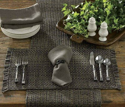 "Tweed Charcoal Table 36"" Runner"