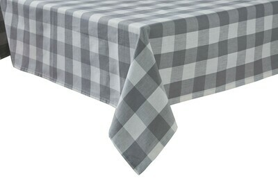 Wicklow Check Dove Tablecloth 54