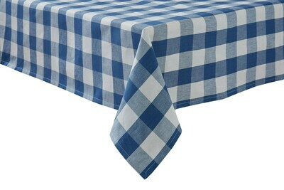 Wicklow Check China Blue Tablecloth 54
