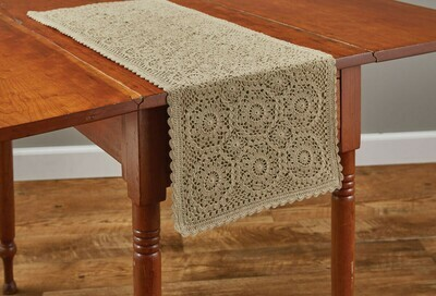 """Lace Oatmeal 36"""" Runner"""