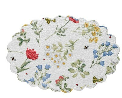 Wildflower Scalloped Oval Placemat
