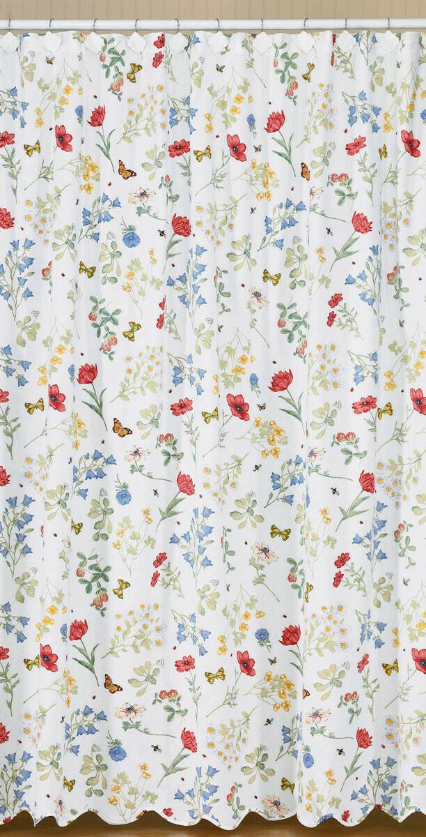 Wildflower Scalloped Shower Curtain