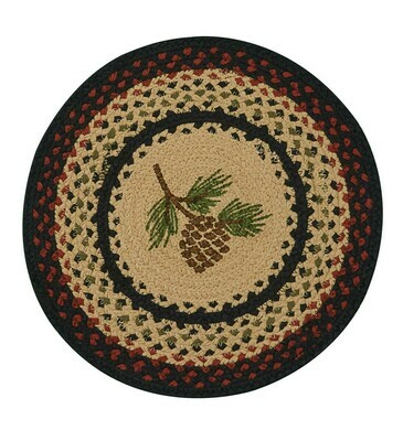 Pinecone Braided Round Placemat